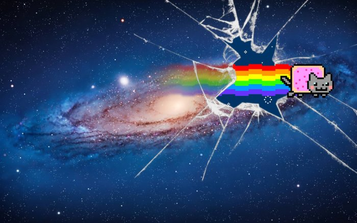Nyan Cat will soon break through this dimension into the next, where he will be both conqueror and destroyer.