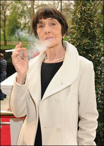 Dot Cotton, 40 -a-day and skinny as fuck.